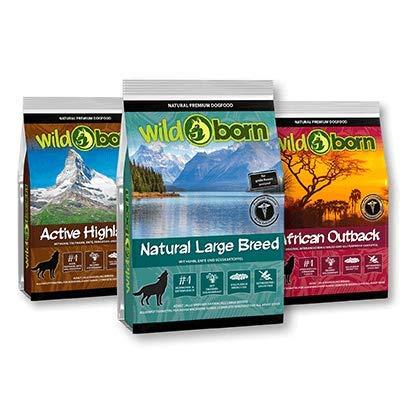 Wildborn getreidefreies Hundefutter 3x500g Probierpaket Large für große Rassen