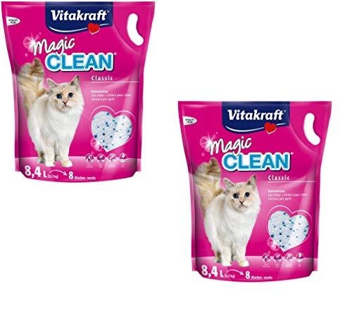 Vitakraft Magic Clean 15526 - Arena para gatos (8 semanas, 8,4 l, 2 unidades)