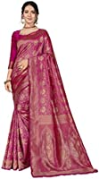 CLOTHAM Women's Banarasi Saree (Banarasi_Saree_107)