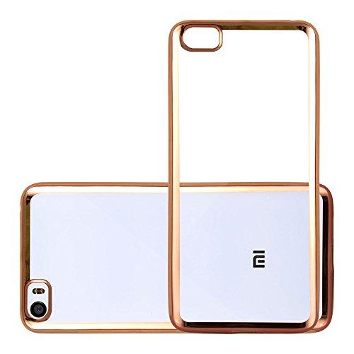 Cadorabo Funda para Xiaomi Mi5 Funda de Silicona TPU Cromo en Cromo Oro – Cubierta Protectora Super Delgada e Flexible con Antichoque – Gel Ligera
