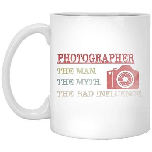 Photographer Man Myth Bad Influence Vintage Mug Tea Mug Funny Vegan Cofee Mug Gifts 11 oz Cup
