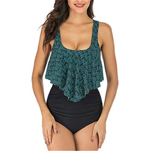 Bikini de mujer con estampado femenino sexy sin espalda con estampado femenino sin espalda bikini de sentido femenino con estampado de honda y cintura alta bikini Color de la imagen 3 M