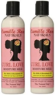 Camille Rose Naturals Curl Love Moisture Milk, (2 Pack of 8 Ounce)