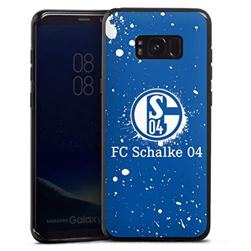DeinDesign Silikon Hülle kompatibel mit Samsung Galaxy S8 Plus Duos Case schwarz Handyhülle FC Schalke 04 S04 Offizielles Lizenzprodukt