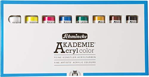 Schmincke akad. Acrílico kaesten ACADEMIA Acrílico karton-set, 8x TB. 20 ml Acrílico 76 008 097