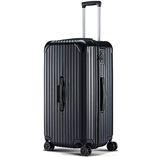 eLy 24-Inch Suitcase, Large Capacity Trolley Case, PC + ABS, Suitcase With Tsa Lock, Alloy Trolley Case, Pressure Resistance, Impact Resistance, Black