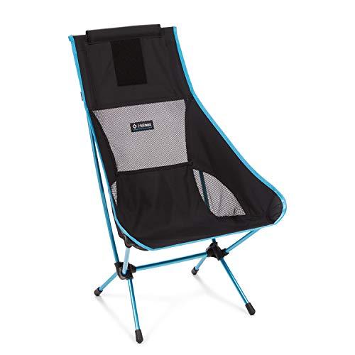 Helinox Chair Two   Der aus dem Original entwickelte Chair Two leicht und gut verstaubar und bietet mit Seiner verlängerten Rückenlehne eine zusätzliche Unterstützung (Black)