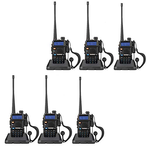 BaoFeng UV-5R Dual Band Walkie Talkie VHF UHF Two Way Radio (6 Pack)