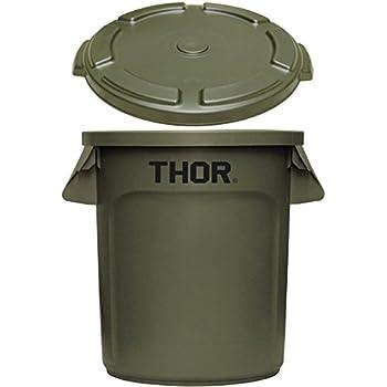 トラスト ソーラウンドコンテナ 38L Trust THOR Round Container [ オリーブドラブ/フタ付き ]