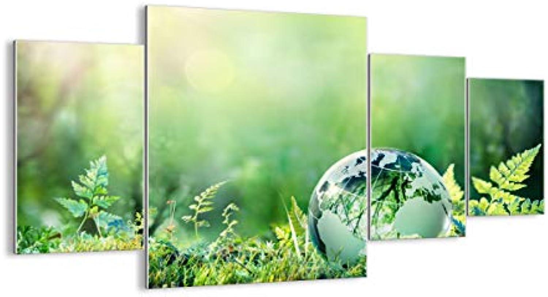 Glas - Glasbilder - Vier Teile - Breite  160cm, Hhe  90cm - Bildnummer 4041 - vierteilig - mehrteilig - zum Aufhngen bereit Kunstdruck - GDL160x90-4041