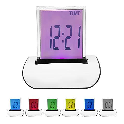 DIGIFLEX Digitaler LCD Wecker Mit Thermometer Und 7 Farben
