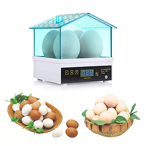 Huatuo Huevo Digital Mini incubación incubadora incubadora de Huevos 4 Máquina automática Hatcher Control de Temperatura para Pollos, Patos, Aves