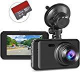 """Dash Camera with SD Card Included,Dash Cam Full HD 1080P Dashcams for Cars Front in Car Dash Cams with Night Vision 170°Wide Angle 3""""IPS Screen Loop Recording G-Sensor Motion Detection Parking Monitor"""