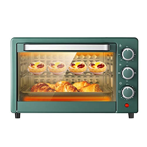 22L Mini Oven, 1360W 60 Minutes Timer& Heating Cycle, Christmas, Toaster Oven, 3-Layer High Temperature Resistant Glass Door, Multi-Functioncountertop Oven