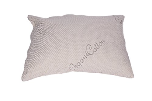 V&R Naturals Kapok Silk Queen Pillow - Organic Cotton Stretch Cover - Fill Kapok Silk 100%
