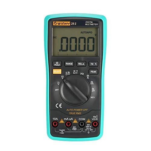 28II 20000 Zählungen Digitalmultimeter True RMS AC/DC Volt Ampere Ohm Kapazität Temperaturdiode NCV Durchgangsprüfgerät - Grau & Blau