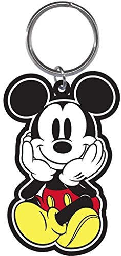 Disney Mickey Mouse Face in Palms Keychain