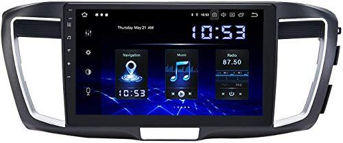 Coche Estéreo Auto Audio Player Doble DIN FM Radio Android 10.0 SAT NAV LCD Monitor Táctil 10,2 Pulgadas Pantalla Táctil Navegación GPS Compatible Para Honda Accord 2013-2017,8 core 4G+WiFi 2+32GB