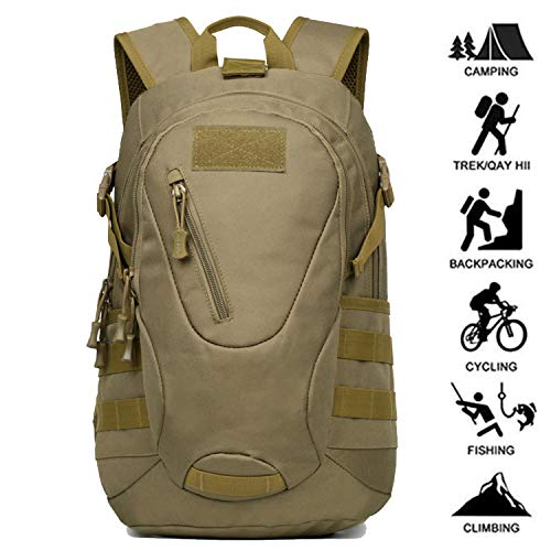 FreeWalk Mochila Táctica Militar Mochila de Asalto Molle Mochilas de Senderismo Unisex para Excursionismo, Montañismo, Camping, Trekking