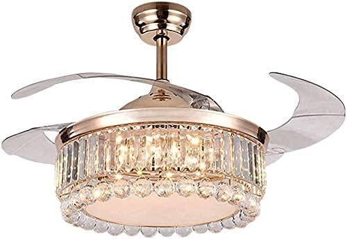 Beeki Ventilador de techo con luz y ventilador de techo moderno moderno de 42 pulgadas de 42 pulgadas con control remoto ligero, hoja retráctil, lámpara de lámpara, lámpara de araña, luz colgante para