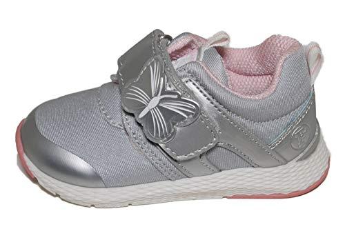 Falcotto Nariposa VL, Mädchen Sneaker, Silber - Silber/schwarz - Größe: 27 EU