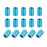 uxcell 15 Pcs Round Aluminum Standoff Column Spacer 3.1x6x10mm(IDxODxH) Aqua Blue for Drone FPV Quadcopter Racing RC Multirotors Parts DIY