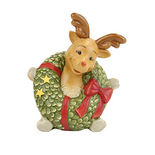 Goebel Weihnachten Rentier Rudolph Bunt