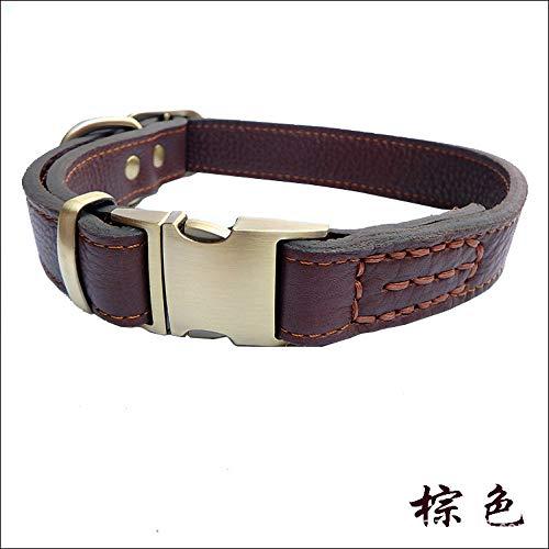 MYYXGS Hundeleine - für alle Hunde geeignet, rostfrei, langlebig, bequem und praktisch, explosionsgeschützt, Leder, Komfortables XL