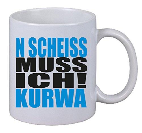 Netspares Kaffee Tasse N Scheiss muss ich Kurwa Polen Gag Polish Polnisch Fun Spruch LOL