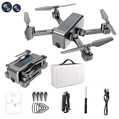 JJDSN 4k Drone 5G WiFi Real-Time Transmission, Drones with 4K HD Camera, Drone GPS Positioning, Mini Drones with Dual Cameras, FPV Drone with MV Shooting Mode, 40 Minutes Battery Life(20+20)