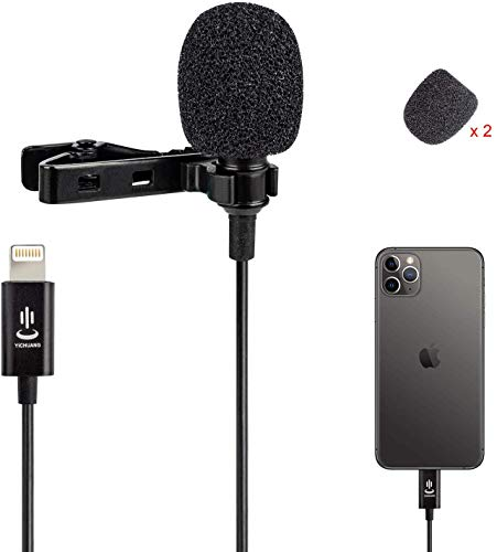 Kit de micrófono para iPhone, laptals, micrófono, altavoz Omnidirectional Audio Video Recording for iPhone X Xr Xs Max 11 Pro 8 8plus 7 7plus 6 6plus, iPad (1,5 m)