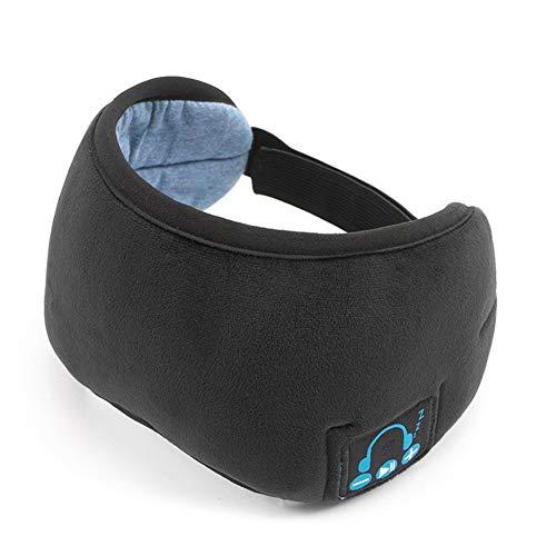LEICH Schlafaugenmaske Waschbar drahtlose Bluetooth-Kopfhörer Musik Augen-Abdeckung Gesichtsaugenpflege for Reisen Schlaf Entspannung Geschenke (Color : Black)