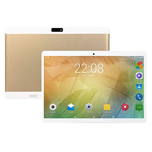 10,1-Zoll Tablet, Android Betriebssystem, 3G Mobilfunk + WLAN, 2 GB RAM, 32 GB Speicher, 2MP + 5MP Kamera, Quad-Core, IPS HD Display, Bluetooth, GPS, Streaming Video Abspielen,Gold