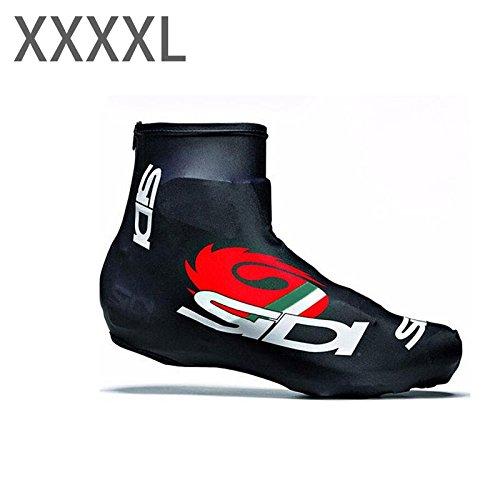 Fenghong Cubre Zapatillas de Bicicleta, Zapatillas de Bicicleta Zapatillas de Ciclismo de Bicicleta Unisex Accesorios Deportivos Pro Racing 4XL y Negro
