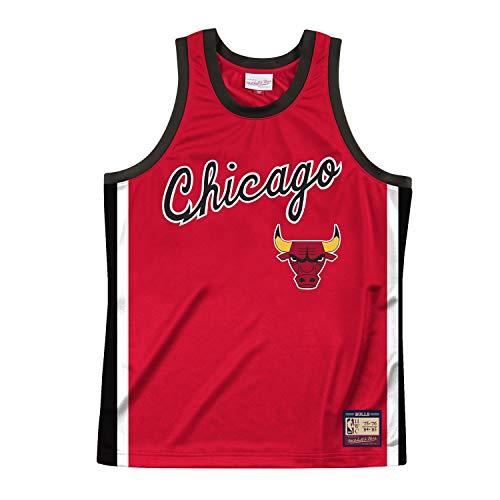 Mitchell & Ness NBA Team Heritage Tank (CHI. Bulls - Red, XXL)
