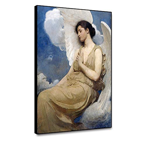Renaiss 18x24 Inches Angel Paradise Oil Painting Canvas Wall Art Renaissance Christ Religion Art Home for Living Room Bedroom Kitchen Dining Room Home Office Lobby Gallery Library Decor Unframed