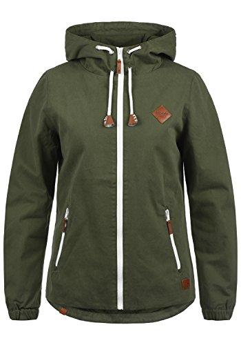 Blend SHE Bibi Damen Übergangsjacke Mantel Parka leichte Jacke mit Kapuze, Größe:L, Farbe:Dusty Green (70595)