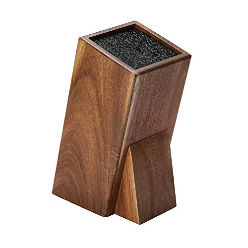 Universal Acacia Wood Knife Holder,Knife Holder Large Capacity Kitchen Household Multifunctional Knife Storage and Placement Rack