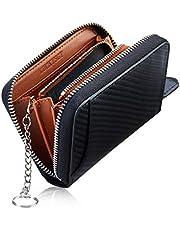 小銭入れ メンズ 本革 コインケース ミニ財布 8カード入れ キーリング付き 財布 コンパクト 小さい財布 カーボンレザー