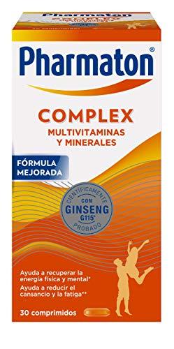 Pharmaton Complex - Multivitamínico con Ginseng - 30 Comprimidos Compactos - Energía Física y Mental