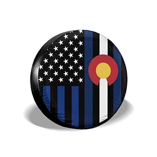 AEMAPE Colorado Flag USA Cubierta de neumático de Repuesto, Ajuste Universal para Jeep, Remolque, RV, SUV, camión y Muchos vehículos, diámetro de 17 Pulgadas