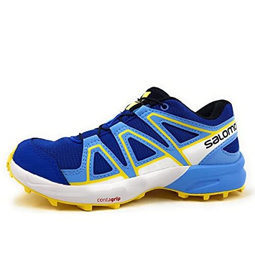 Salomon Speedcross J, Zapatillas de Trail Running Unisex Niños, Azul (Turkish Sea/Little Boy Blue/Lemon Zest), 36
