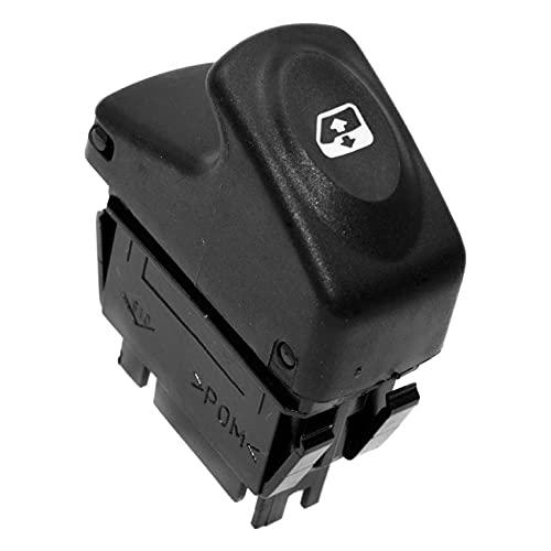 Bayda 7700429998 - Interruptor de elevalunas eléctrico de 6 pines para Kangoo 1997-2003 Megane 1995-2002 ScéNic 1996-2003 Clio II 1998-2001