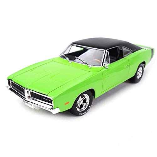 Modelo de coches para niños Fundido a troquel del modelo de coche, 1: 18 Simulación carril Challenger -RT- juguete modelo de coche, coche colección de los amantes de la joyería, decoración de la ofici