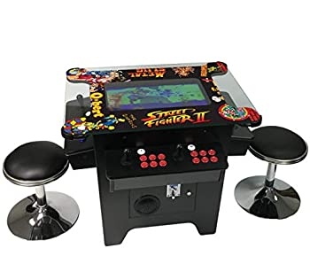Cocktail Arcade Machine 1162 Games in 1 with 80 s and 90 s Classics Includes 2 Chrome Stools 5 YEAR WARRANTY NEW LARGE 26  LED Monitor