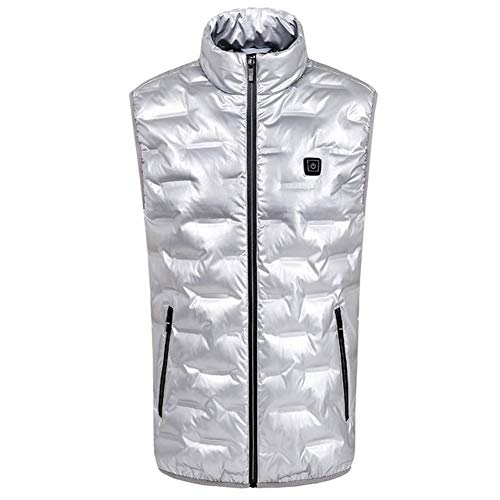 Slimme verwarming Vest, mannen en vrouwen zelfverwarmende Warm Vest, Winter Winddicht Wandelen ski Mouwloos Jas Retro XX-Large Kleur