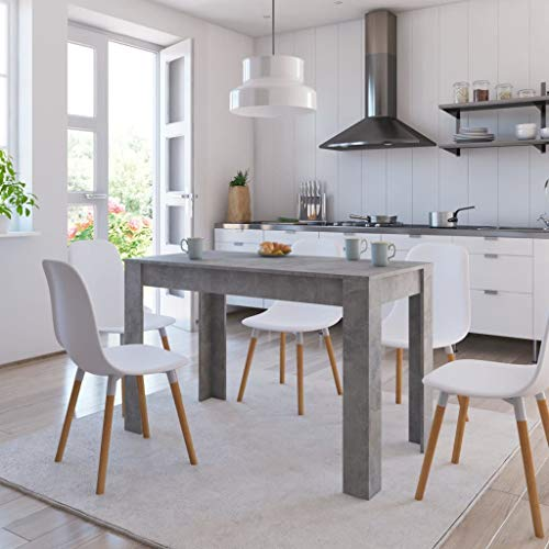 Dining Table, Dining Room Table Kitchen Table Dining Table Concrete Gray 47.2'x23.6'x29.9' Chipboard