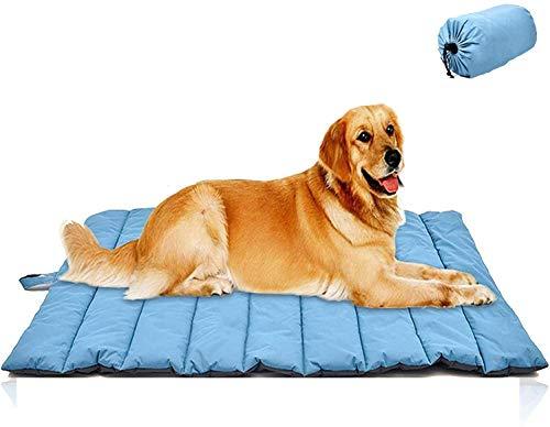 Cama para Perros al Aire Libre, Impermeable, Lavable, de Gran tamaño, Duradera, Resistente al Agua, portátil y de Viaje para Acampar, para Mascotas-Blue Xlarge