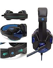 LDGGS Professionellt LED-ljus spelarheadset för dator PS4 PS5 Fifa 21 spelhörlurar bas stereo PC trådbundet headset med mikrofongåvor