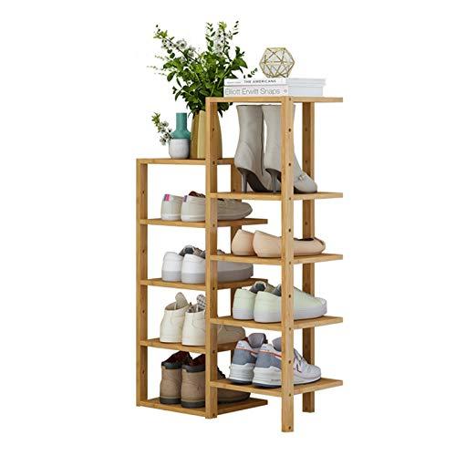 Estantes de Zapatero Para Zapatos Rosador de zapatos de 10 capas Organizador de almacenamiento de zapatos de madera Armario de entrada Dormitorio Dormitorio Dormitorio Encuentra Fácilmente Tus Propios